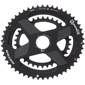 Rotor Aldhu Direct Mount Double Chainring oval ブラック マット