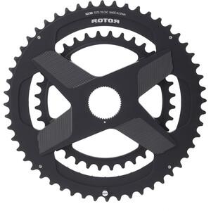 Rotor Aldhu Direct-Mount Doppel-Kettenblatt Rund schwarz/matt schwarz/matt