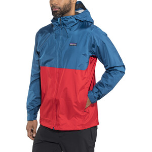 Patagonia Torrentshell Jacket Herr big sur blue w/fire red big sur blue w/fire red