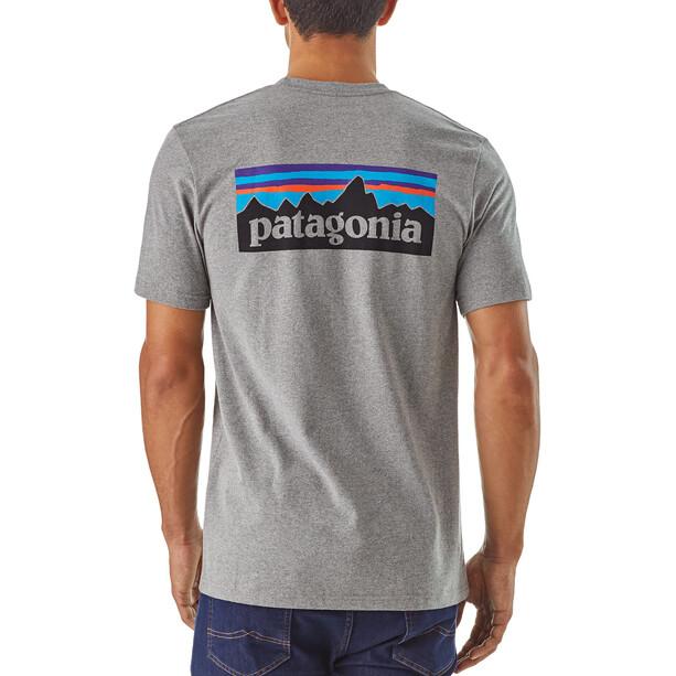 Patagonia P-6 Logo Responsibili Tee Herr gravel heather