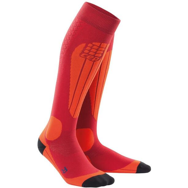 cep Thermo Ski Socken Herren cranberry/orange