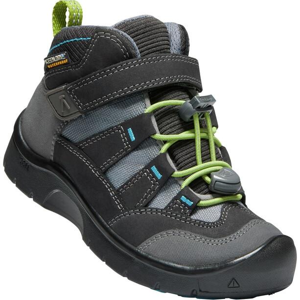 Keen Hikeport Mid WP Schuhe Kinder magnet/greenery
