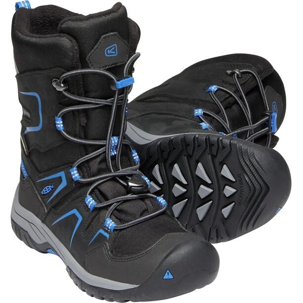 Keen Levo WP Schuhe Jugend black/baleine blue