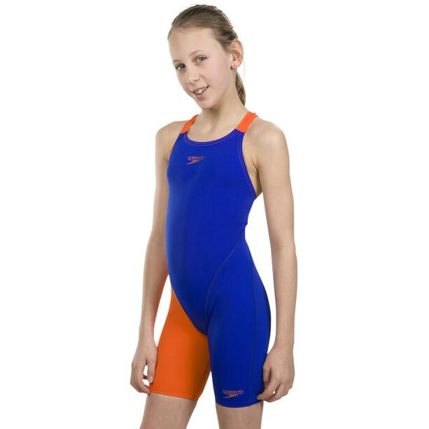 speedo Fastskin Endurance+ Openback Kneeskin Mädchen ultrasonic/salso