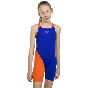 speedo Fastskin Endurance+ Openback Kneeskin Flickor orange/blå orange/blå