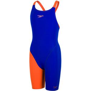 speedo Fastskin Endurance+ Openback Traje Niñas, azul/naranja azul/naranja