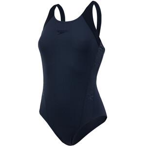 speedo Boom Splice Muscleback Badeanzug Damen schwarz schwarz