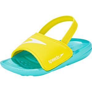 speedo Atami Sea Squad Slipper Kinder bali blue/empire yellow bali blue/empire yellow