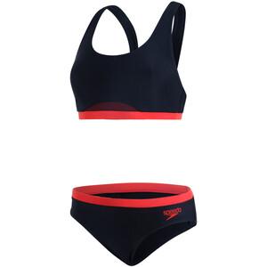 speedo HydrActive 2 Piece Bikini Damen black/orange black/orange