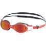 speedo Futura Biofuse Flexiseal Mirror Goggles Kinder black/lava red/orange gold