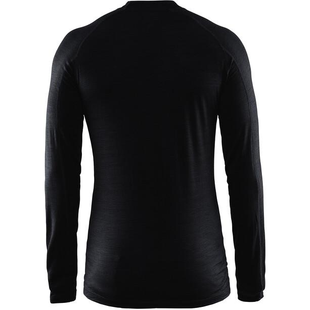 Craft Merino Lightweight Rundhals Langarm Herren black