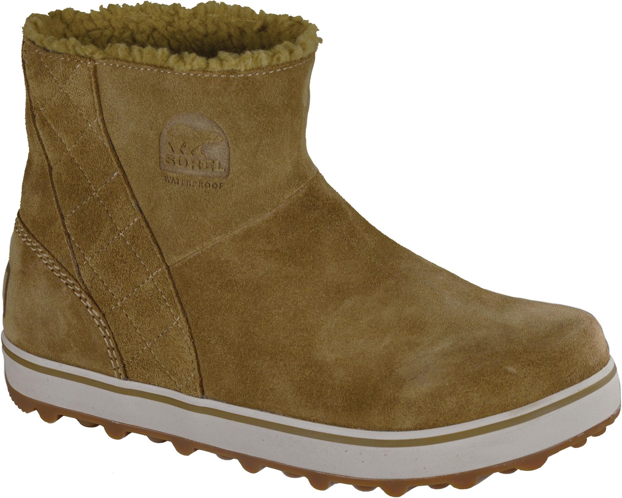 Sorel Glacy Short Boots Dam deltaautumn bronze