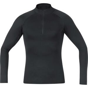 GORE WEAR Base Layer T-shirt manches longues Thermique avec Col roulé Homme, noir noir