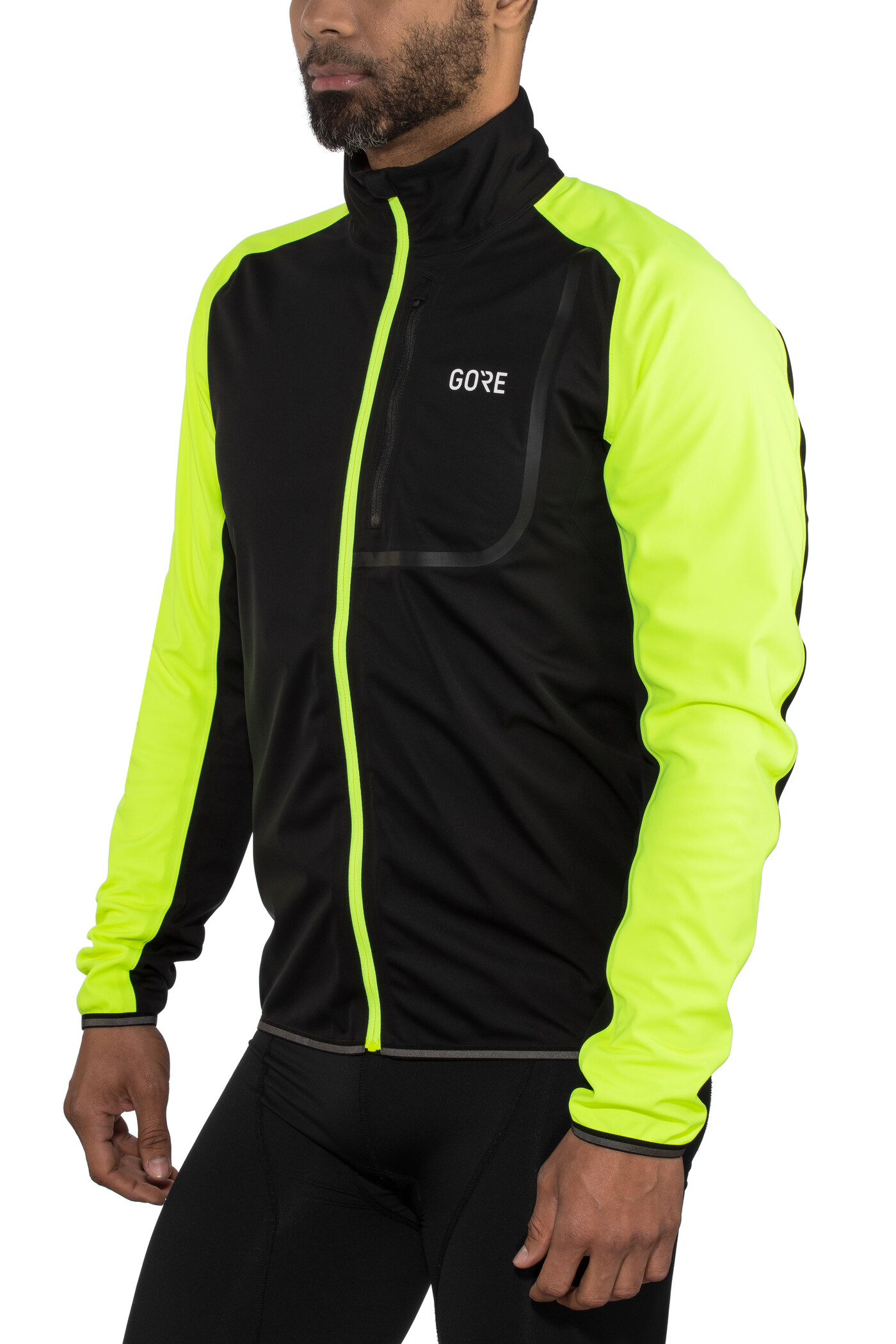 GORE WEAR C3 Gore Windstopper Jacke Herren blackneon yellow