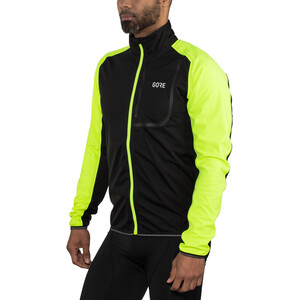 GORE WEAR C3 Gore Windstopper Jacket Herre black/neon yellow black/neon yellow