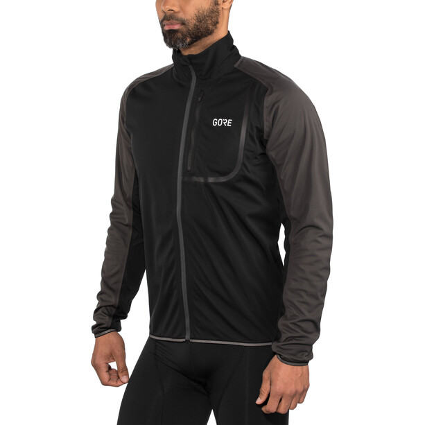 GORE WEAR C3 Gore Windstopper Jacke Herren black/terra grey