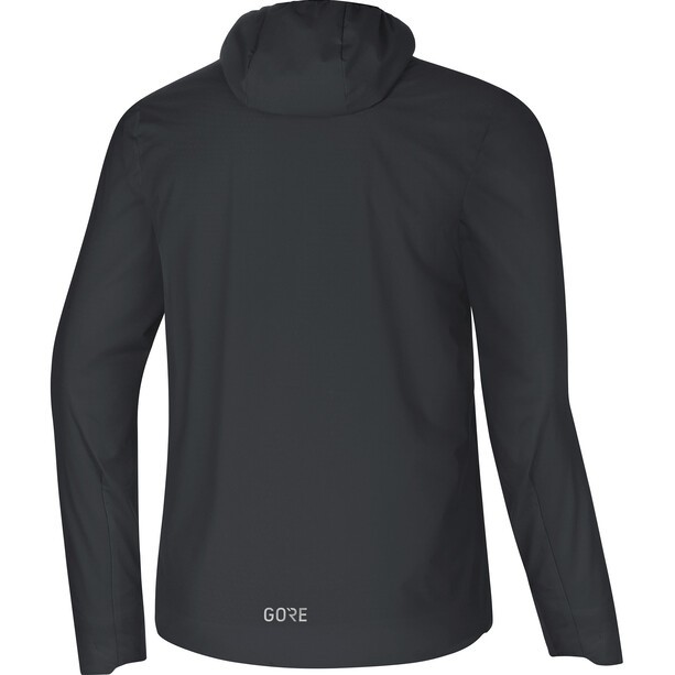 GORE WEAR H5 Windstopper Isolierende Kapuzenjacke Herren black/terra grey