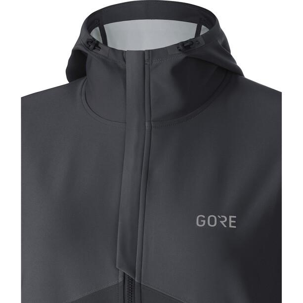 GORE WEAR R3 Windstopper Kapuzenjacke Herren terra grey/black