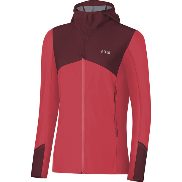 GORE WEAR R3 Windstopper Hooded Jacket Dam hibiscus pink/chestnut red
