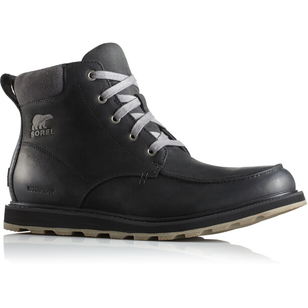 Sorel Madson Moc Toe Waterproof Shoes Herr black/dark grey