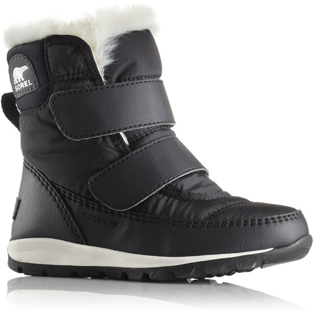 Sorel Whitney Short Hook-and-loop Boots Barn black/sea salt