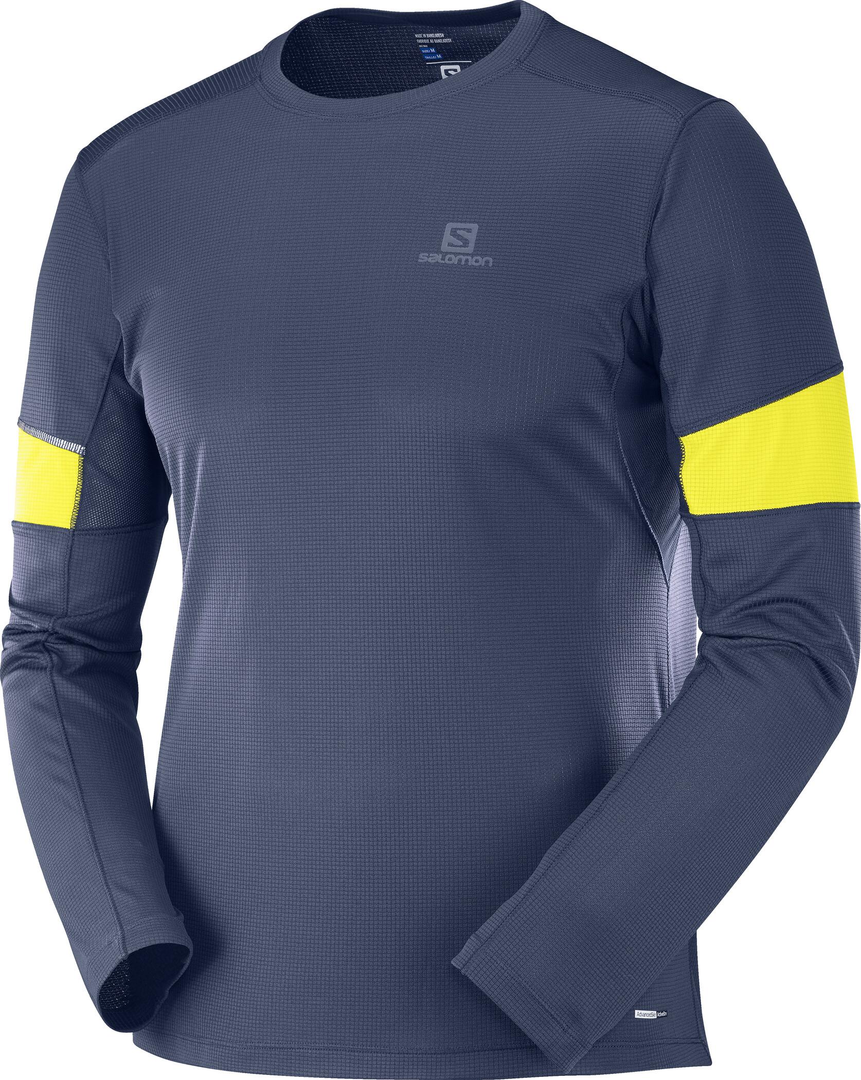 Salomon Agile Langarm T Shirt Herren night sky