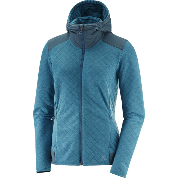 Salomon Elevate Full-Zip Midlayer Damen deep lagoon heather/reflecting pond