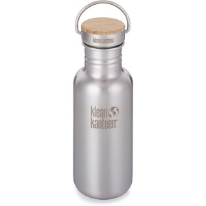 Klean Kanteen Reflect Bottle Bamboo Cap 532ml brushed stainless brushed stainless