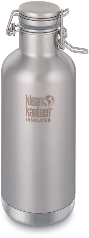 Klean Kanteen Growler Vacuum Insulated Bottle Swing Lok Cap 946ml Brushed Stainless  2019 Drikkeflasker