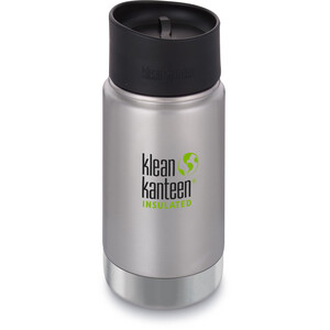 Klean Kanteen Wide Vacuum Insulated Bottle Café Cap 2.0 355ml brushed stainless brushed stainless