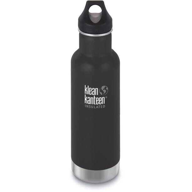 Klean Kanteen Classic Vacuum Insulated Bottle Loop Cap 592ml shale black matt