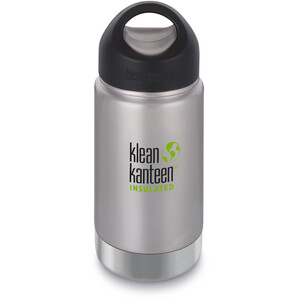 Klean Kanteen Wide Vacuum Insulated Bottle Stainless Loop Cap 355ml brushed stainless brushed stainless
