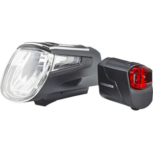 Trelock LS 560 I-GO Control/LS 72 Beleuchtungs Set schwarz schwarz