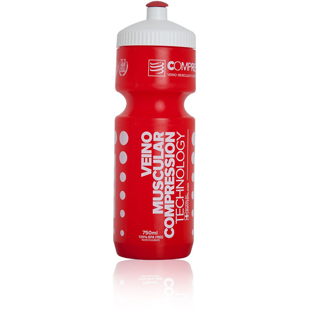 Compressport Cycling Bottle 750ml red/white