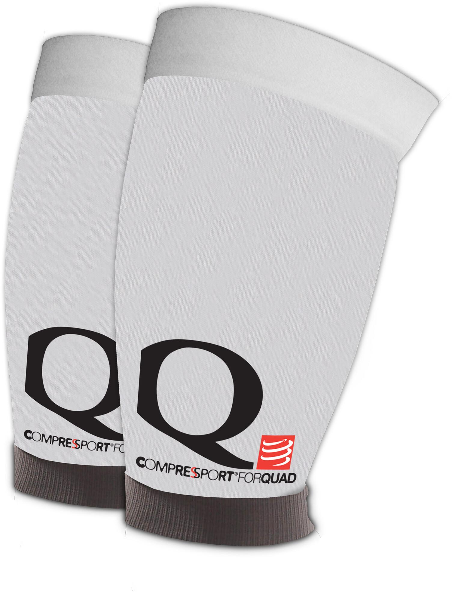 compressport quad sleeves white online kaufen. Black Bedroom Furniture Sets. Home Design Ideas