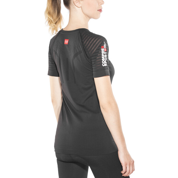 Compressport SwimBikeRun Training T-Shirt Dam black