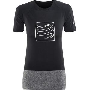 Compressport Training T-Shirt Damen schwarz schwarz