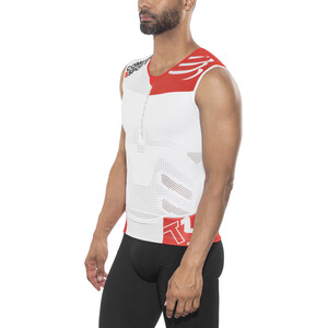 Compressport TR3 Triathlon Tank Top white white