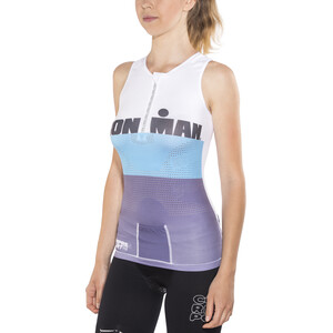 Compressport TR3 Triathlon Tank Top Ironman Edition Damen stripes grey stripes grey