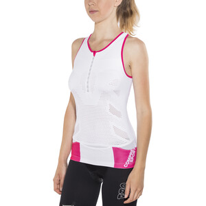 Compressport TR3 Ultra Triathlon Tank Top Damen white white