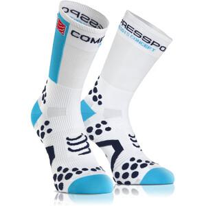 Compressport Racing V2.1 Bike High-Cut Socken white/blue white/blue
