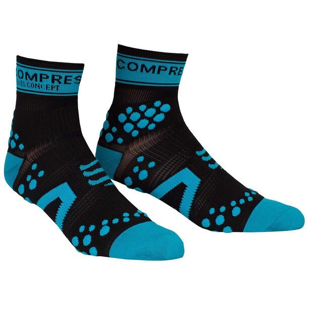 Compressport Racing V2 Run High-Cut Socken black/blue