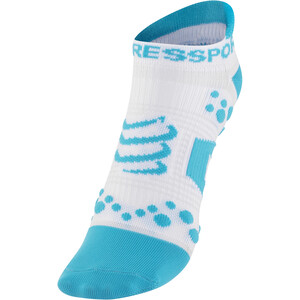Compressport Racing V2 Run Low-Cut Socken white/blue white/blue