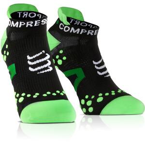 Compressport Racing V2.1 Run Low-Cut Socken black/green black/green