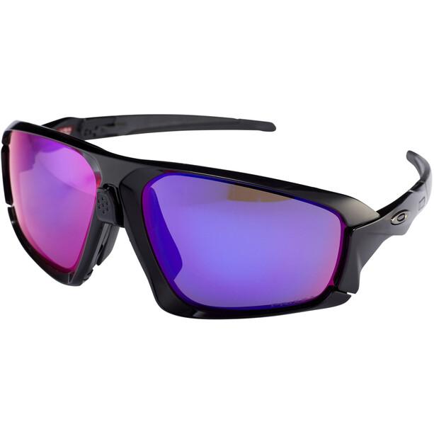 Oakley Field Jacket Sonnenbrille polished black/prizm road