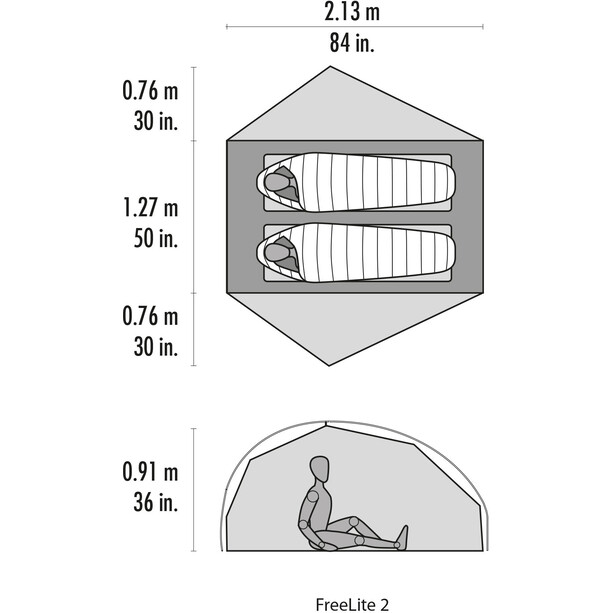 MSR FreeLite 2 V2 Tent grå