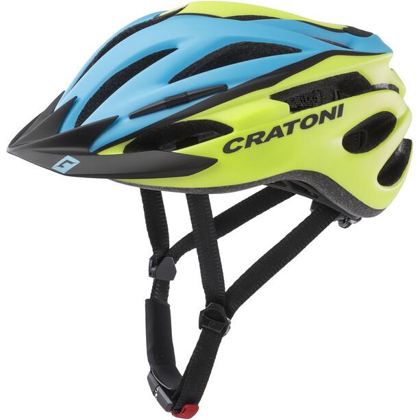 Cratoni Pacer Helm Herren blau/lime matt