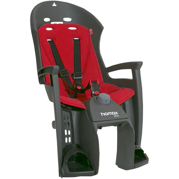 Hamax Siesta Kindersitz Gepäckträger grau/rot