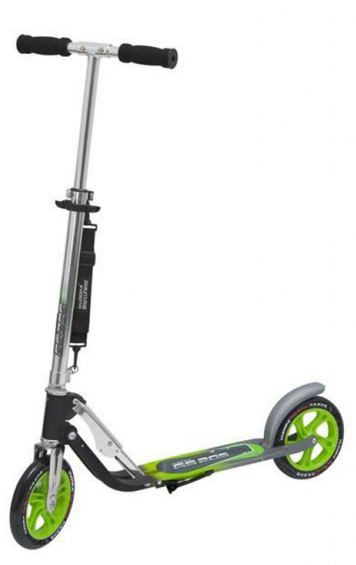 Hudora Big Wheel City Scooter grün/silber Cityroller 2986093600
