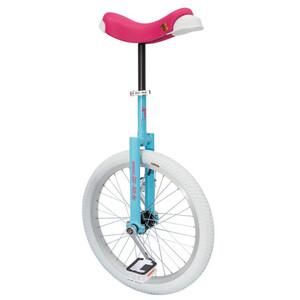 QU-AX Luxus Enhjuling blå/pink blå/pink